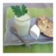 Crème d'asperges et pain perdu salé à la coriandre