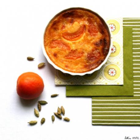 Clafoutis aux abricots et à la cardamome