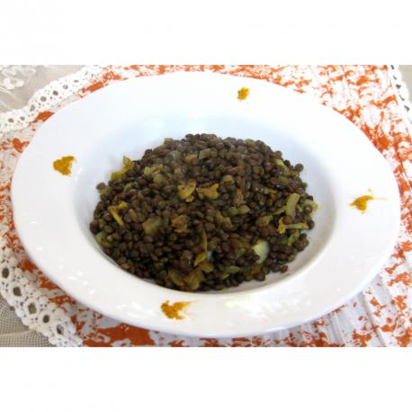 Dahl indien de lentilles vertes aux épices