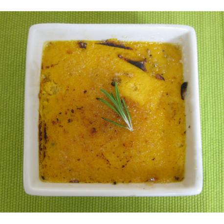 Crème brûlée de carottes au romarin