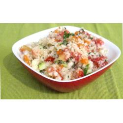 Taboulé de chou-fleur et légumes croquants