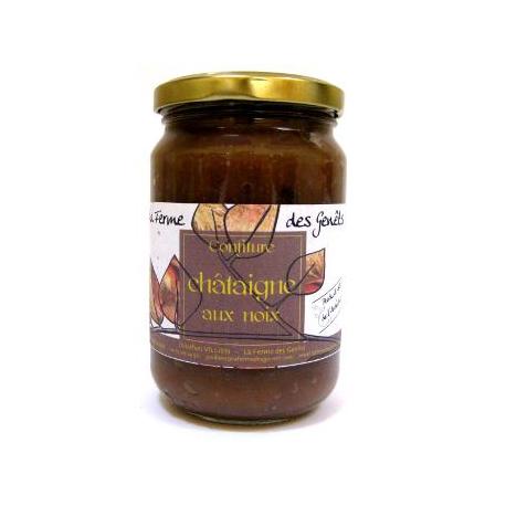 Confiture de châtaigne bio aux noix 5% (370g)