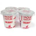 Yaourt nature au lait entier Laiterie Gilbert (4x125g)