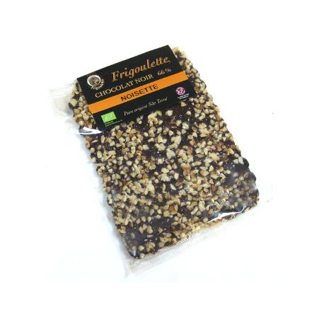 Tablette de chocolat noir aux noisettes (défaut)