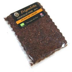 Tablette de chocolat noir aux éclats de fève de cacao