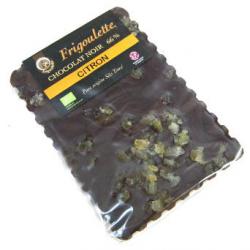 Tablette de chocolat noir au citron confit