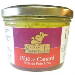 Pâté de canard au foie-gras 30%, 190g
