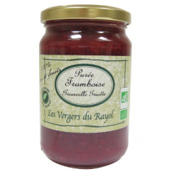Purée tartinable framboise / groseille / griotte bio (320g)