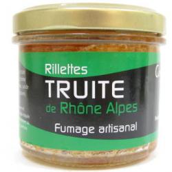 Rillette de truite fumée de Rhône-Alpes (90g)