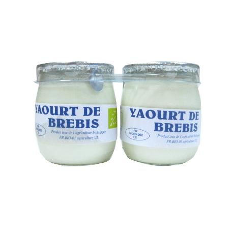 Yaourt au lait de brebis (2x125g)