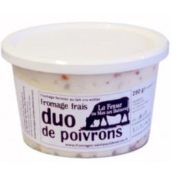 Fromage frais aux deux poivrons (280g)
