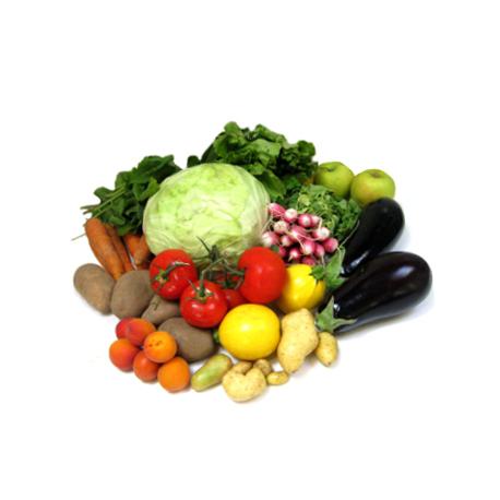 Panier de fruits et l gumes famille nombreuse oclico - Fruit ou legume en i ...