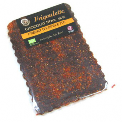 Tablette de chocolat noir bioéquitable au piment  2% (100g)