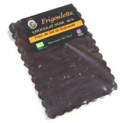 Tablette de chocolat noir bioéquitable à la fleur de sel 2% (100g)