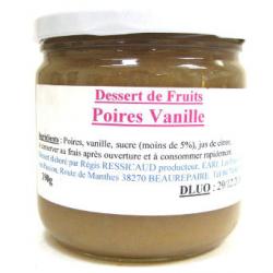 Dessert de poire vanille (390g)