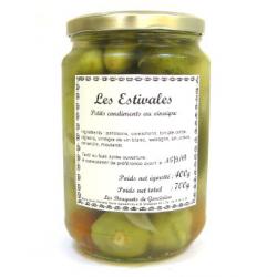 Estivales : cornichons et pâtissons au vinaigre (700g)