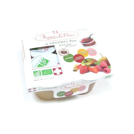 dessert de fruits sans sucre bio 4 parfums x130g oclico. Black Bedroom Furniture Sets. Home Design Ideas