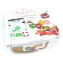 Dessert de fruits nature sans sucre bio (4x130g)