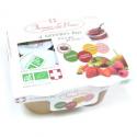 Dessert de fruits sans sucre bio (4 parfums x130g)