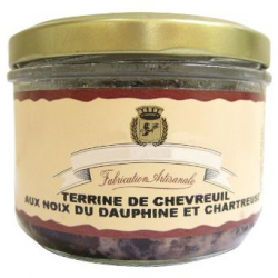 Terrine de Chevreuil aux noix du Dauphiné et Chartreuse 1% (180g)