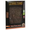 Tablette de chocolat noir bioéquitable au café