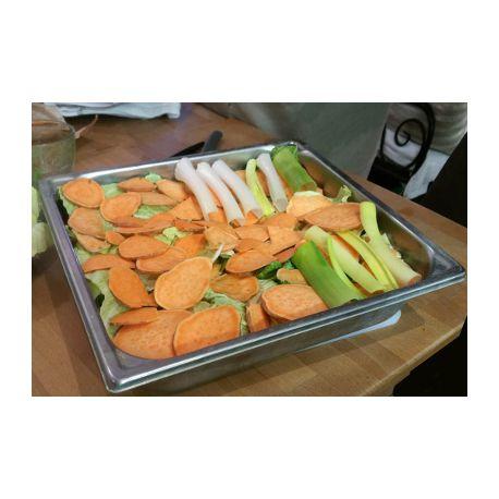 Lasagnes végétales et sauce au pois chiches