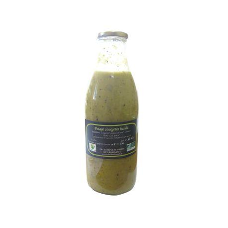 Potage de courgette et basilic bio (1L)