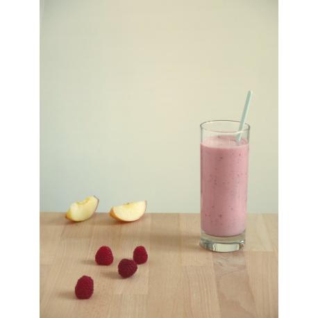 Smoothie au yaourt, framboise et nectarine