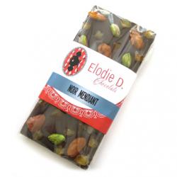 Chocolat noir mendiants, Elodie D (80g)