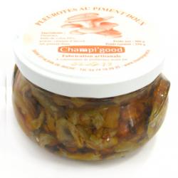 Pot de pleurotes aux piments doux, 300gr