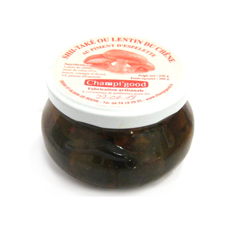 Pot de shii-takés au piment d'Espelette, 250gr