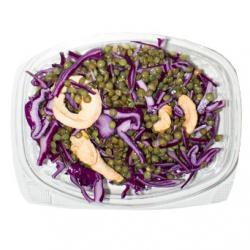 Salade de lentilles au chou rouge, sauce à l'huile de noix (entrée)