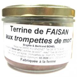 Terrine de faisan aux trompettes de la mort (200g)