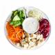 Salade Buddha bowl aux dés de poulet vapeur, cajonnaise à la moutarde XL (plat, 1personne)