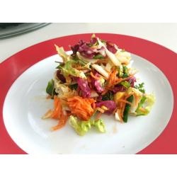 Salade composée chicorée endives avocats