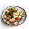 Pâtes de sarrasin aux légumes grillés et émietté de brebis (plat, 1personne)