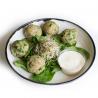 Boulettes de kasha aux épinards, cajonnaise citronnée (plat, 1personne)