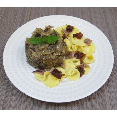 Wrap aux aubergines & fromage de chèvre