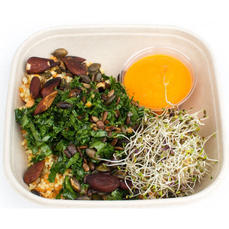 Salade de riz sauvage, tartare de courgette et tomate (plat, 1personne)