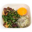 Salade de millet et lentilles au chou kale, cajonnaise moutardée (plat, 1personne)