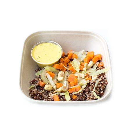 Curry de quinoa et poulet,  légumes aux noix de cajou (plat, 1personne)