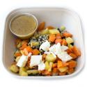 Sarrasin et légumes rotis au thym, fromage de brebis et sauce miel moutarde (plat, 1personne)