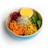 Salade de pois chiche et légumes vapeur, crème de balsamique (entrée, 1personne)