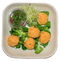 Boulettes de lentilles corail et sauce gremolata (plat, 1personne)