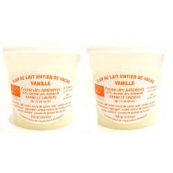 Flans de vache bio vanille (x2)