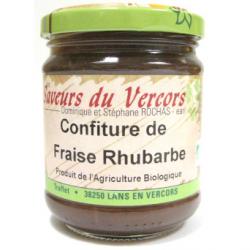Confiture fraise rhubarbe bio (200g)