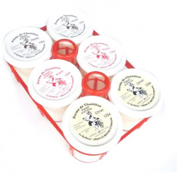 Yaourts aromatisés (x6)- vanille, fraise, citron