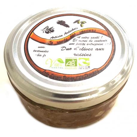 Tartinade Duo d'Olives au raisin (130g)