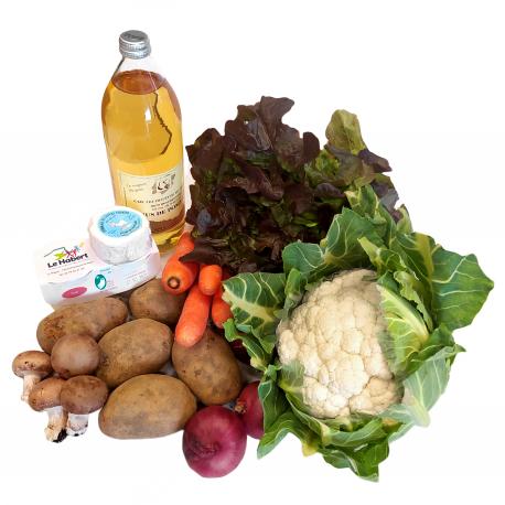 Panier de fruits et légumes (famille nombreuse)