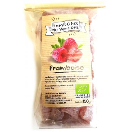 Bonbons bio à la framboise (150g)